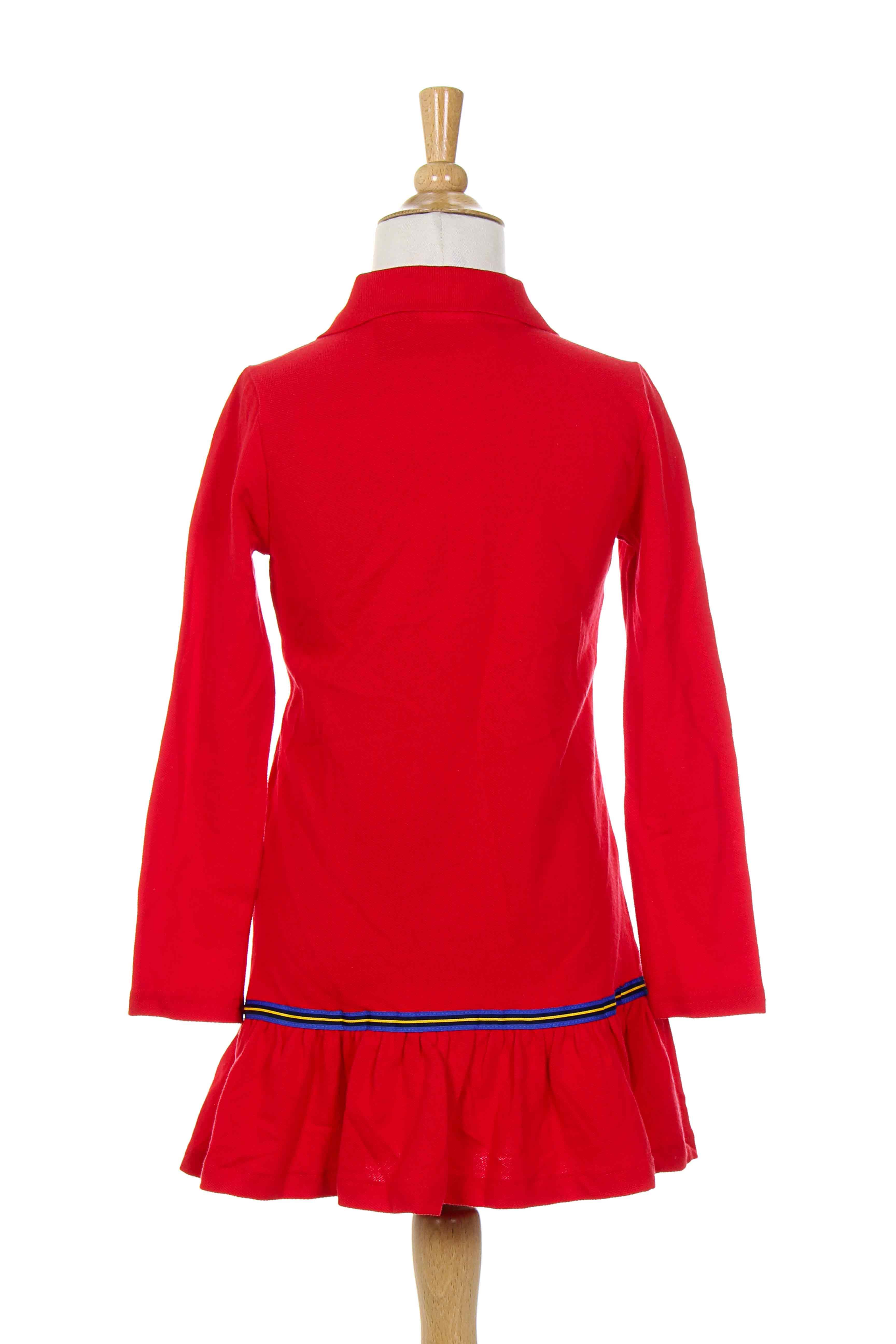ralph lauren robes mi longues fille de couleur rouge en. Black Bedroom Furniture Sets. Home Design Ideas